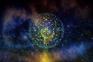 světelná mřížka kolem planety